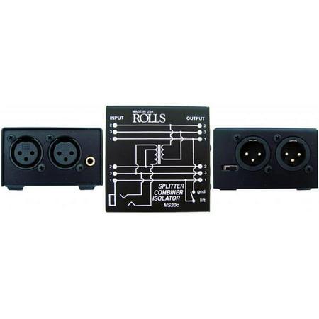 ROLLS MS20C Mic Splitter-Combiner-Isolator - Walmart com