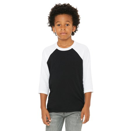 Bella + Canvas Youth 3/4-Sleeve Baseball T-Shirt - 3200Y