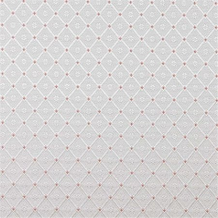 Mahogony Fabric - Designer Fabrics D139 54 in. Wide Silver, White And Mahogany Red, Diamond Brocade Upholstery Fabric