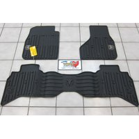 2009-2012 Dodge Ram 1500 Quad Cab All Weather Rubber Slush Floor Mats Mopar OEM