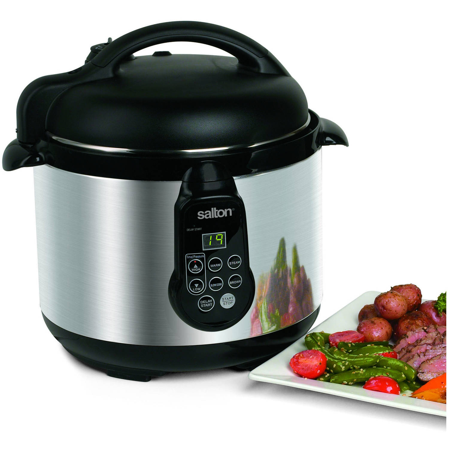 Salton 5-in-1 Electronic Pressure Cooker, 5L