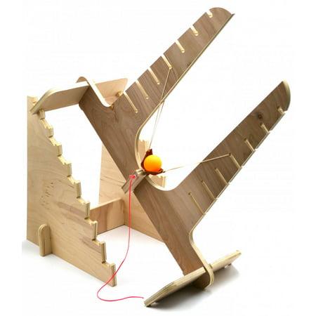 Garage Physics Projectile Slingshot Kit   DIY Sling Shot   Wooden Sling-Shot - Wooden Slingshots