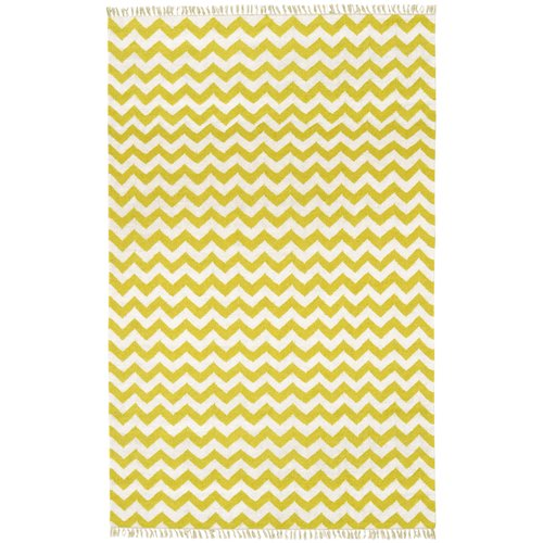 St. Croix Hacienda Yellow/Ivory Chevron Area Rug