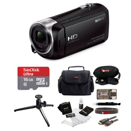 Sony HDRCX405 Handycam HD Camcorder with 16GB microSD Card and Accessory Bundle (Sony Video Manuals)