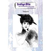 "IndigoBlu Cling Mounted Stamp 5""X4""-Valerie"