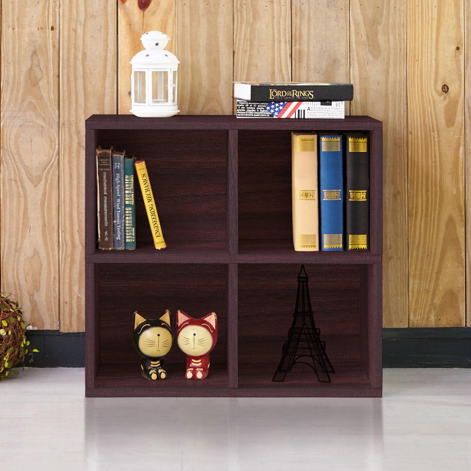 Way Basics Eco-Friendly 4 Cubby Bookcase