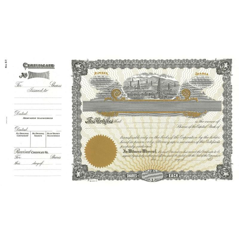 Goes 57 Printable Stock Certificate - Pack of 25