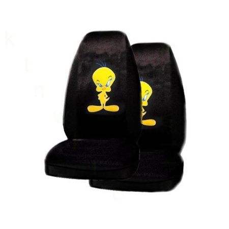 A Set Of 2 Universal Fit Tweety Bird Seat Covers