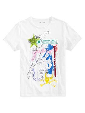 74fcfe633cd81c Product Image GUESS Mens Collage Graphic T-Shirt truewhite 2XL