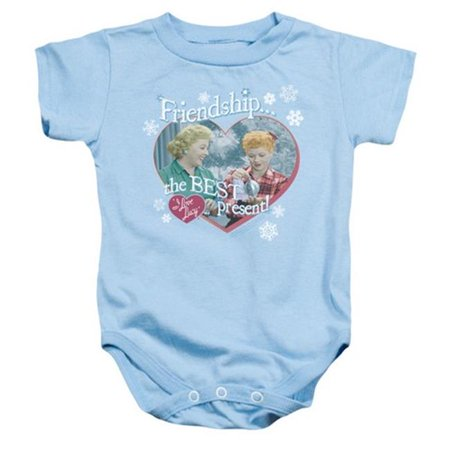 Trevco Lucy-The Best Present Infant Snapsuit, Light Blue - Large 18