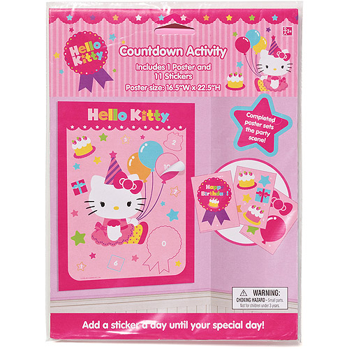Hello Kitty Countdown Activity, Party Supplies