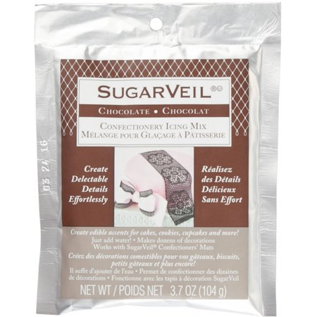 Toltec Chocolate Icing Glass - SugarVeil Icing Powder 3.7oz-Chocolate