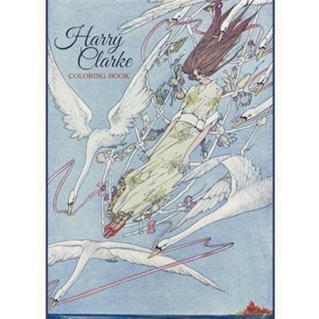 Clarke Cover - Harry Clarke Colouring Book CB165 (Paperback)