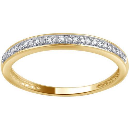 10kt White Gold Round Diamond Accent Wedding Band, I-J/I2-I3