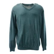 Perry Ellis NEW Blue Mens Size Medium M V-Neck Pullover Knit Sweater $59 #126