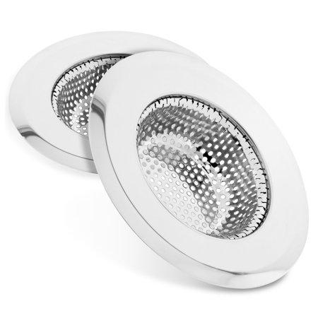- Kitchen Sink Strainer (2pcs), Fosmon Stainless Steel Large Wide Rim 4.5