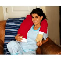 Boyfriend Body Pillow- Red - Companion Pillow w/ Mooshi Micro Beads and Soft Red T-Shirt