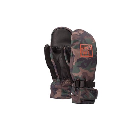 HOWL FAIRBANKS: Warm Winter Snow Mittens, Thermal Mitten for Snowboarding + Skiing Camo Medium