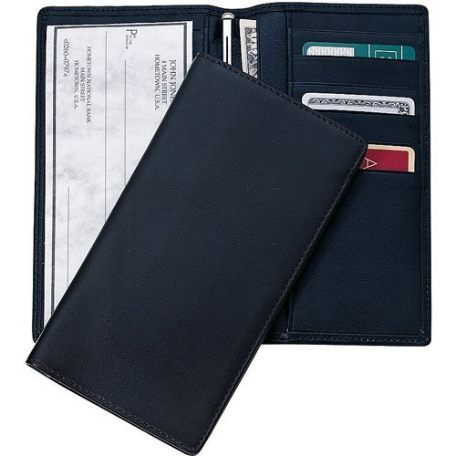 Mens Leather Checkbook Wallet