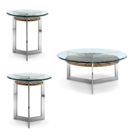 3 piece glass top coffee and end table set. Black Bedroom Furniture Sets. Home Design Ideas