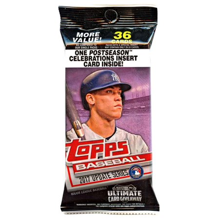 Mlb 2017 Topps Baseball Cards Update Series Trading Card Value Pack Walmartcom