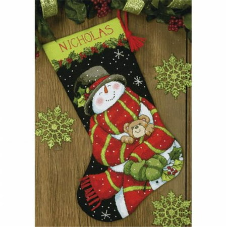 Stocking Wool Needlepoint (Snowman & Bear Stocking Needlepoint Kit, 16