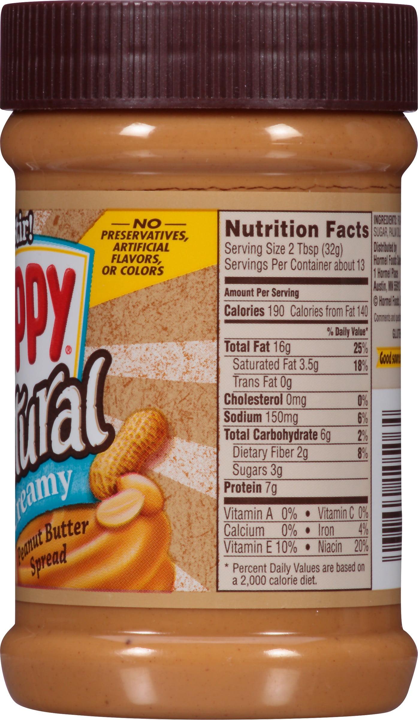 skippy natural creamy peanut butter, 15 oz - walmart
