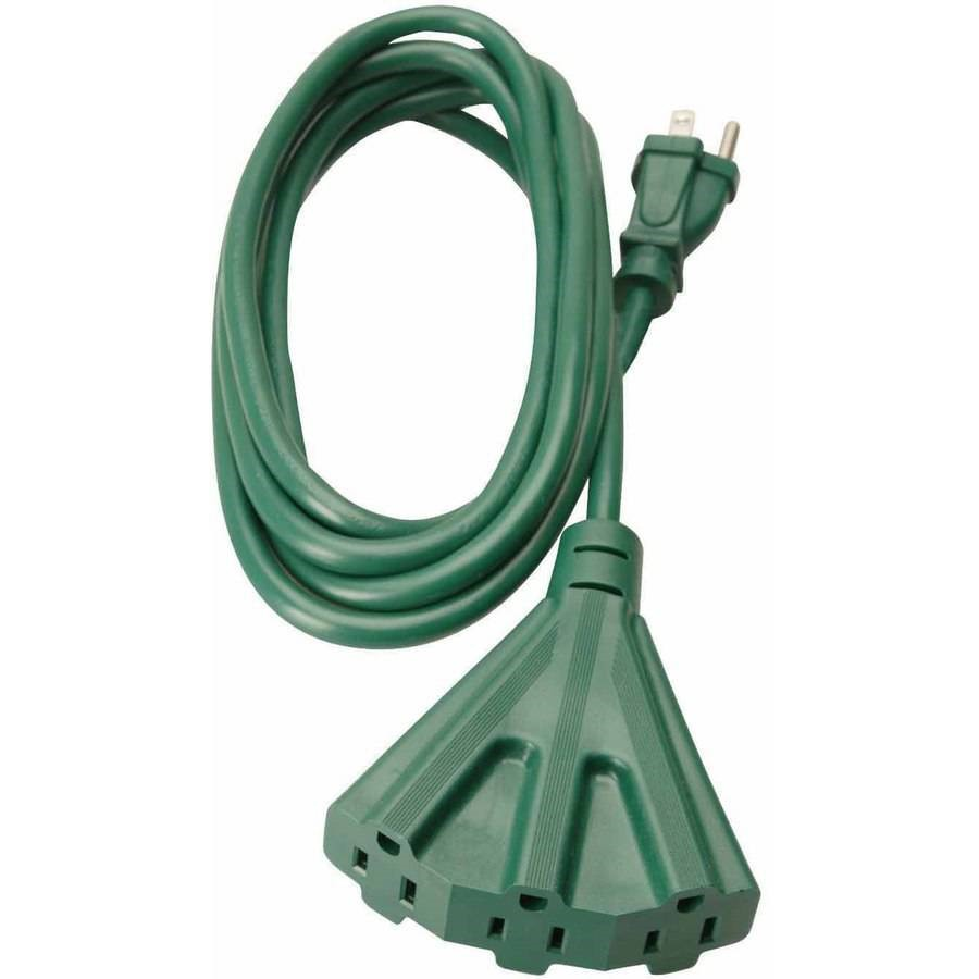 Woods 2466 8-Foot Outdoor Extension Cord with 3-Outlets, Green