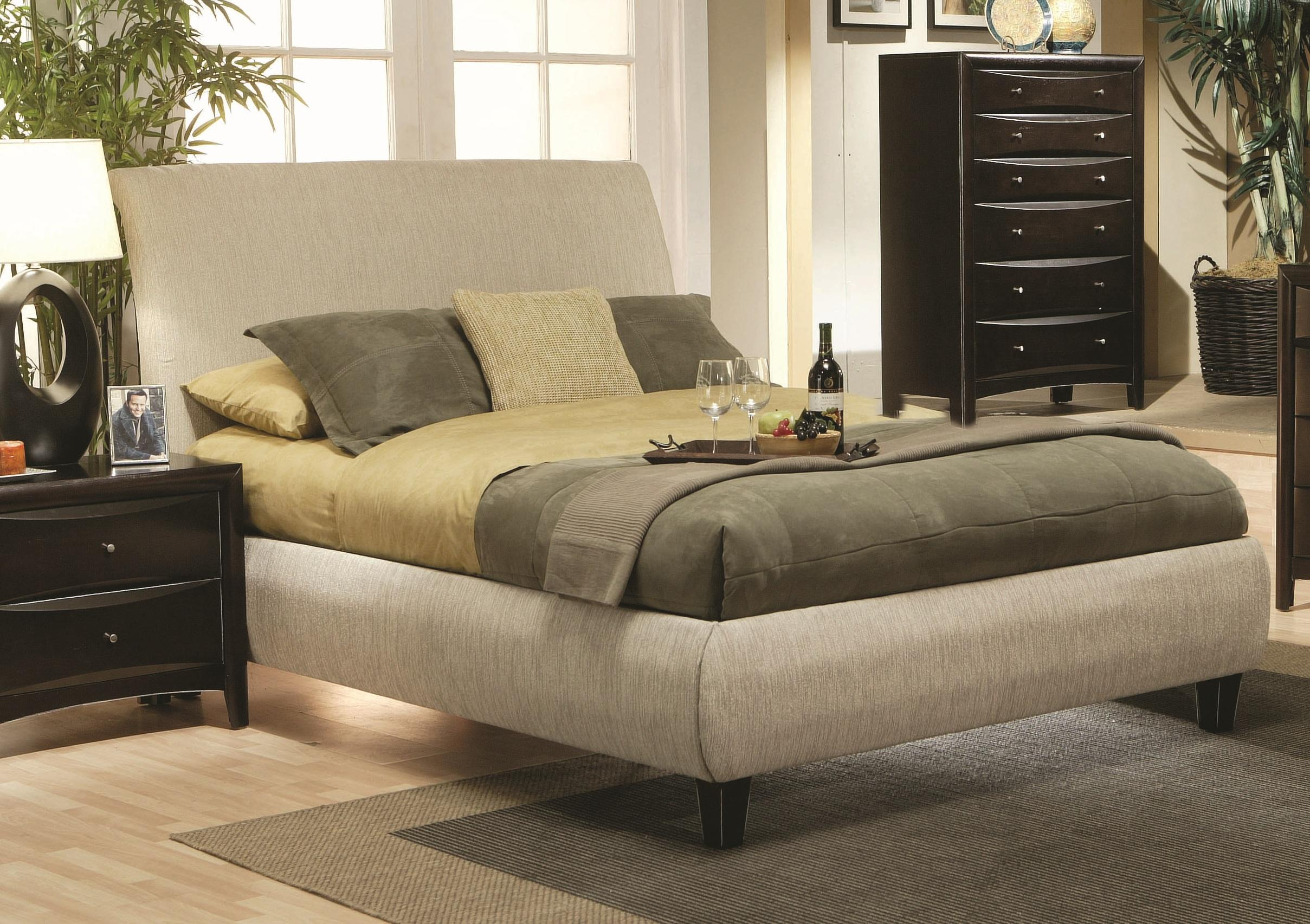 Phoenix Upholstered Bed Size:California King   Walmart.com