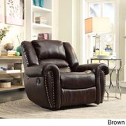 iNSPIRE Q Isaac Bonded Leatr Glider Reclining Chair by  Classic