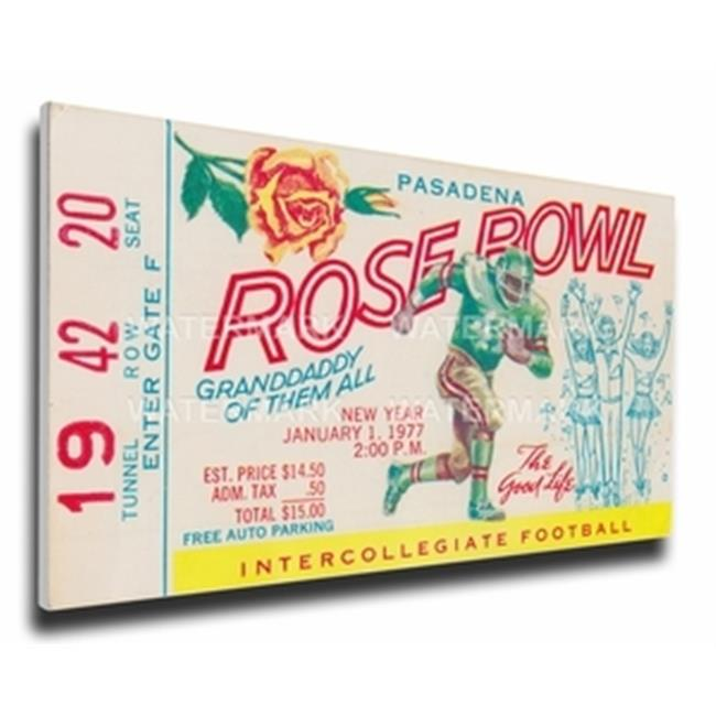 Thats My Ticket TMT-LROSMT77 1977 Rose Bowl Mega Ticket - USC Trojans