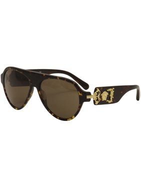 59d626fa88 Product Image Versace Men s VE4323 VE 4323 108 73 Havana Gold Medusa Pilot  Sunglasses 58mm