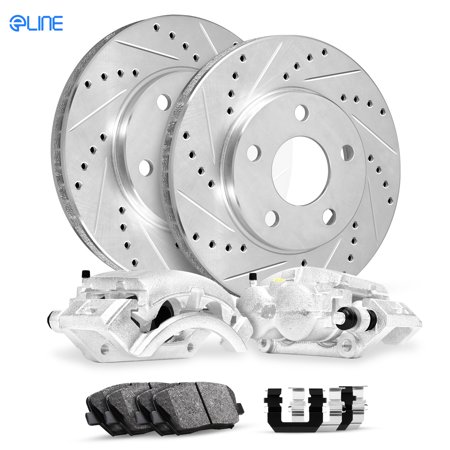 For 1996 Audi A4 Quattro Rear Calipers+Drill Slot Brake (2013 Audi A4 2-0 T Quattro Review)