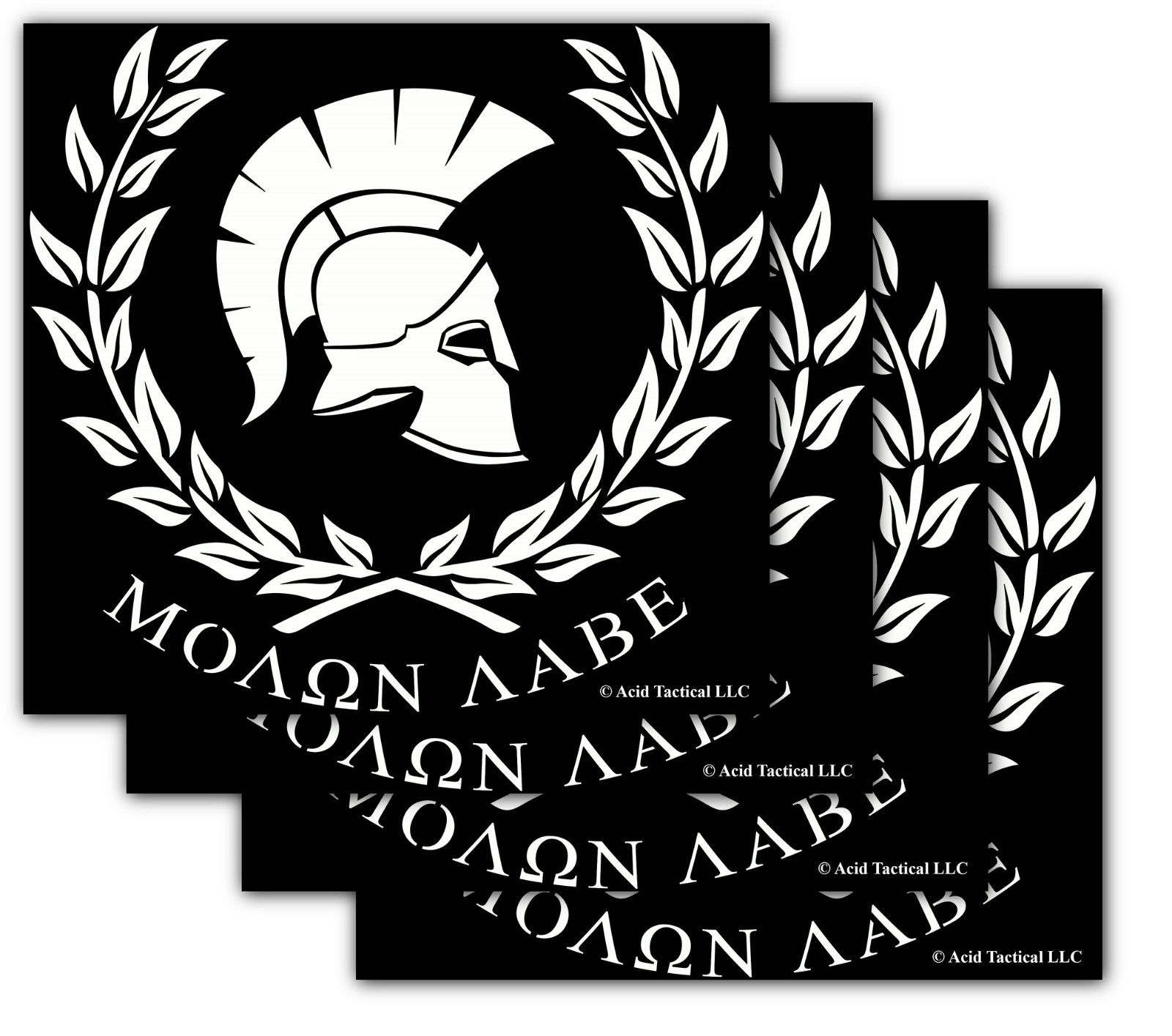8 Molon Labe Vinyl Car Truck Window Decal Sticker 4pk White