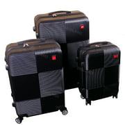 BIGLAND 3 Pcs ABS Luggage Hard Suitcase Spinner Set Travel Bag Trolley Wheels Coded Lock