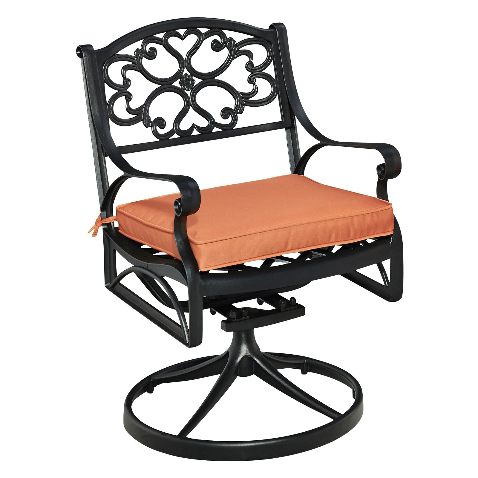 Biscayne Black Swivel Rocker with Cushion