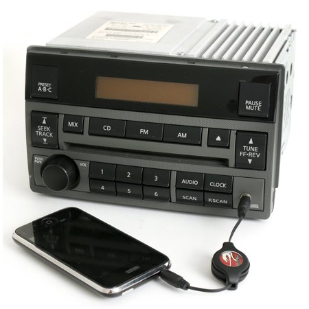 (Nissan 05-06 Altima Frost Radio AMFM CD Player Aux Input Spd Vol Ctrl 28185ZB10A - Refurbished)