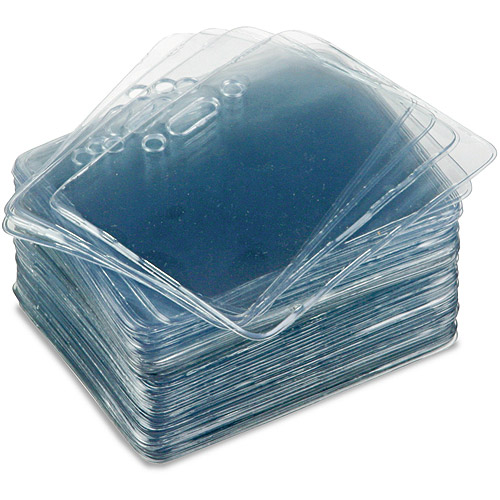 Advantus Proximity Horizontal Clear ID Badge Holders, 50 count
