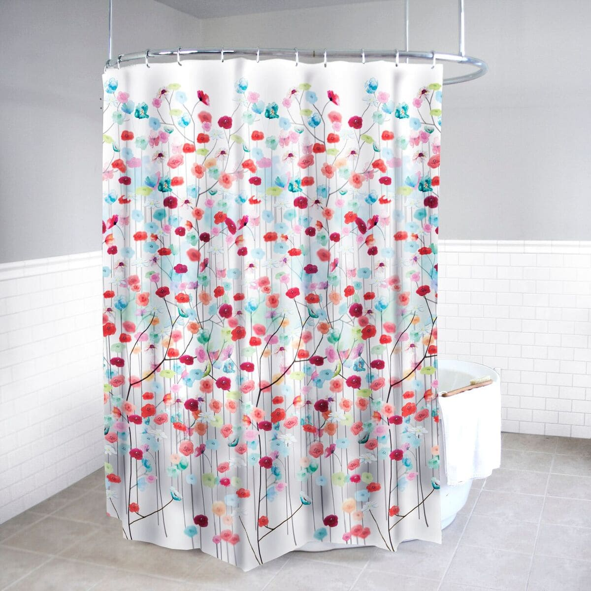Bed Bath More: Bed Bath N More Mansi Fabric Shower Curtain And Hooks Set Or Separates Hooks