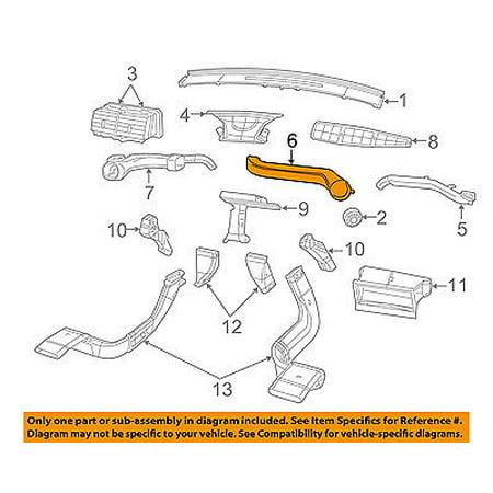 Dodge CHRYSLER OEM Caliber Dash A/C AC Heater-Air Vent Side Duct Right 5058834AA - Walmart.com