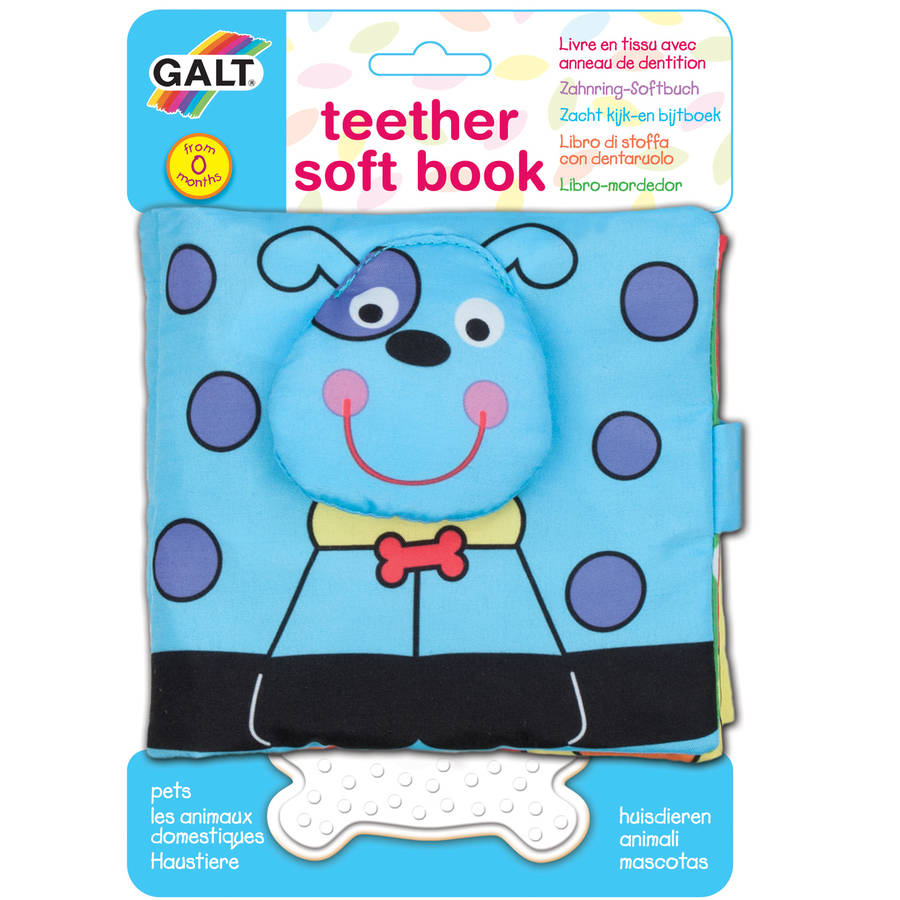 Galt First Years 1004078 Teether Soft Book Pets