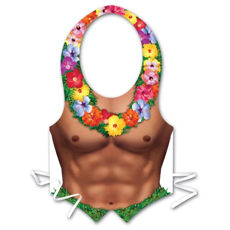 Adults Mens Plastic Hula Hunk Vest Chest Piece Costume Accessory](Steampunk Chest Piece)
