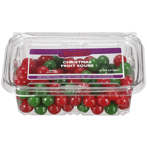 Sweet Candy Company Christmas Fruit Sours Tub