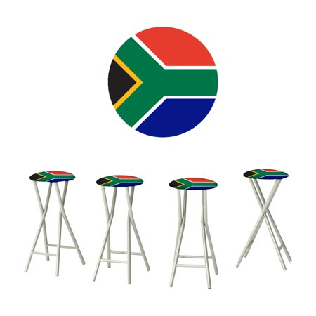 Best of Times Flag of South Africa Outdoor Bar Stools - Set of 4 ()