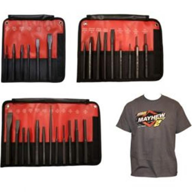 Mayhew Tools MAY-81344 Mixed Punch Chisel Bundle with Race T-Shirt - image 1 de 1