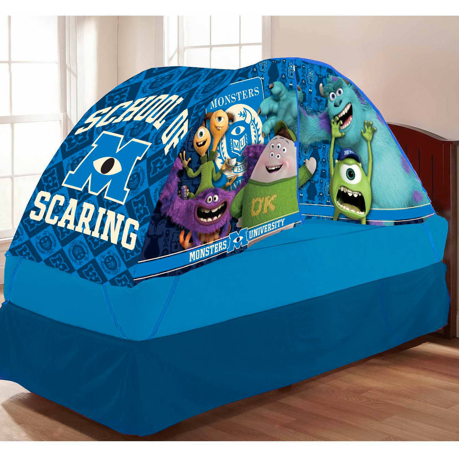 & Monsteru0027s University Bed Tent with Pushlight - Walmart.com
