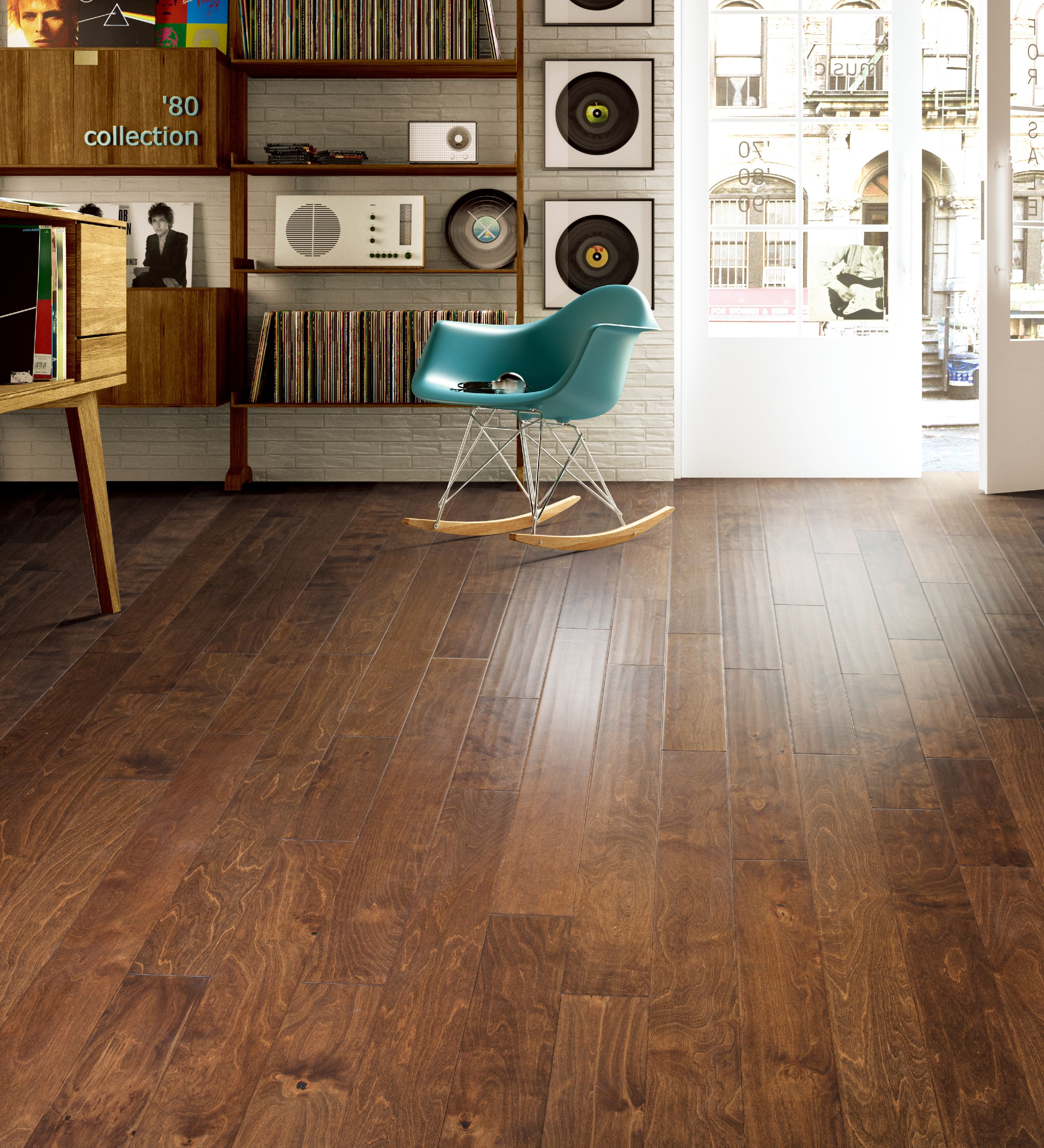"""Boon Collection Engineered Hardwood in Brown - 3/8"""" x 5"""" (32.81sqft/case)"""