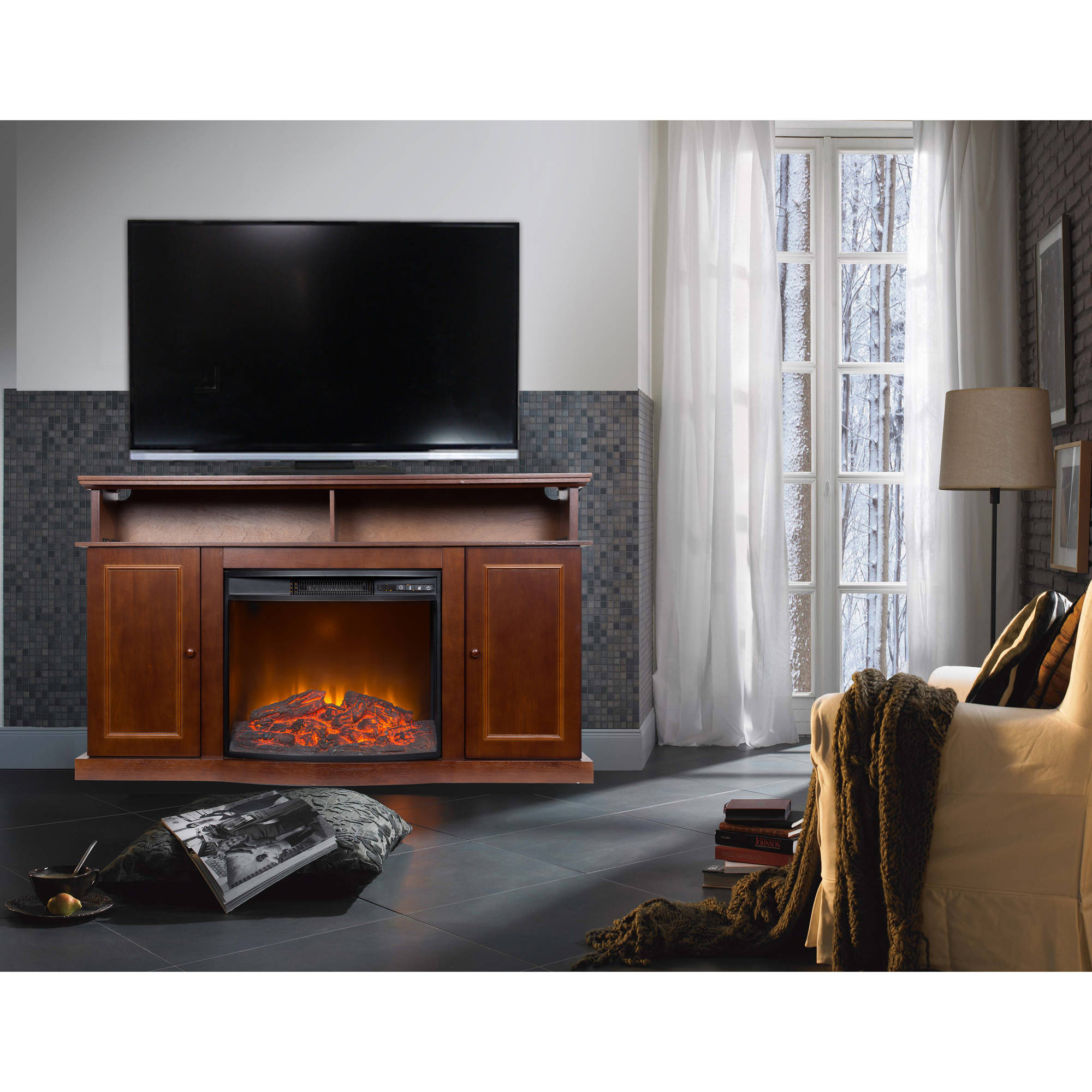 fireplace tv stands walmart com