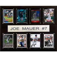 C&I Collectables MLB 12x15 Joe Mauer Minnesota Twins 8-Card Plaque