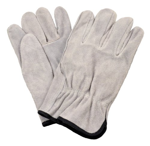 G & F 6050S-3 Premium Split Cowhide Leather Straight Thumb Work Gloves, Drivers Gloves, 3-Pair, Small